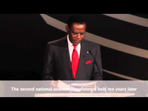 President Obiang Addresses Equatorial Guinea's First Economic Diversification Summit