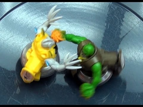 Beyblade Shogun Steel BeyWarriors 2nd Wave Battle Series 4 Bandid Golem Vs Berserker Byakko