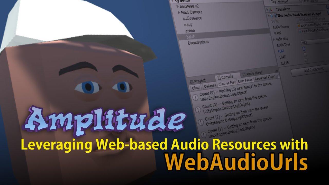 Amplitude for WebGL - Unity Forum