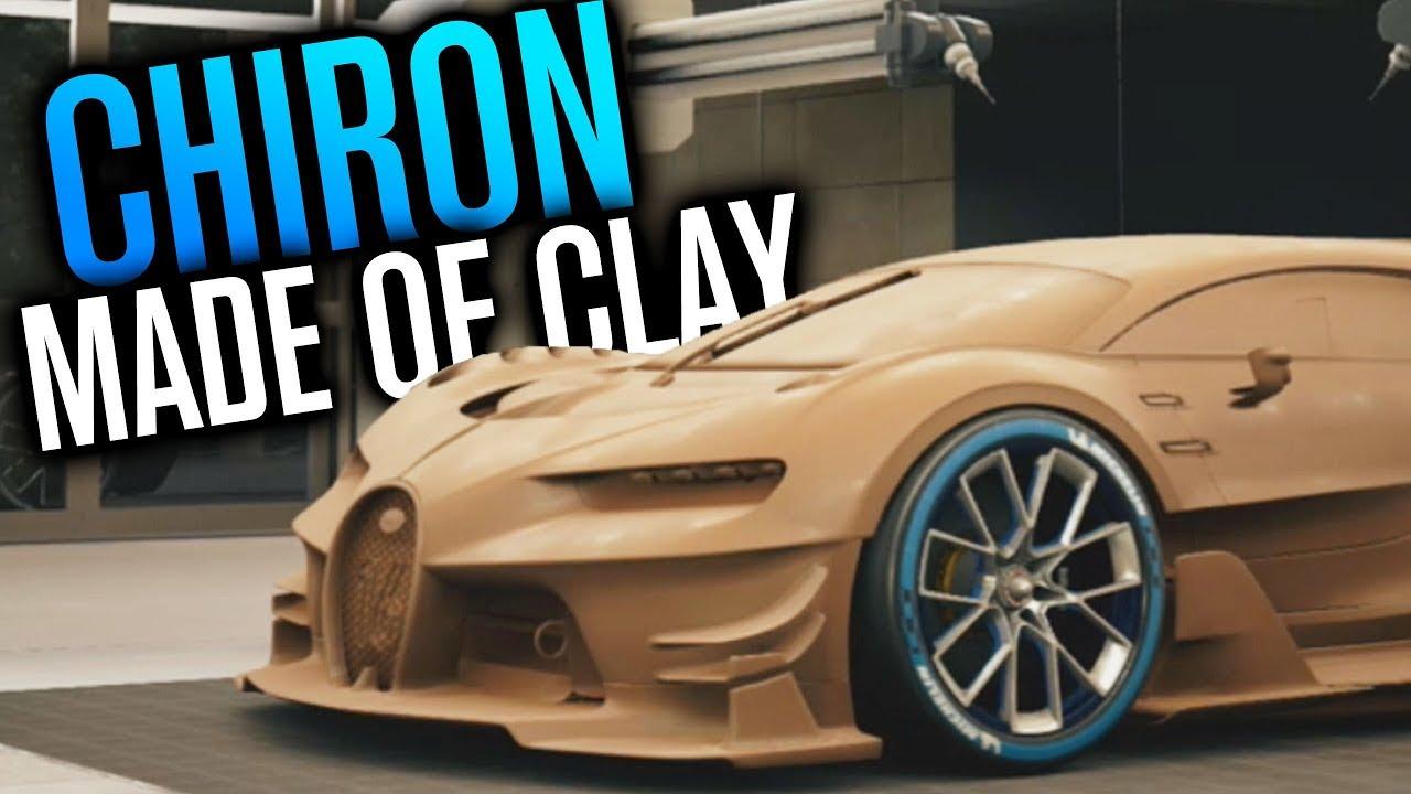 Bugatti Chiron Made Of Clay