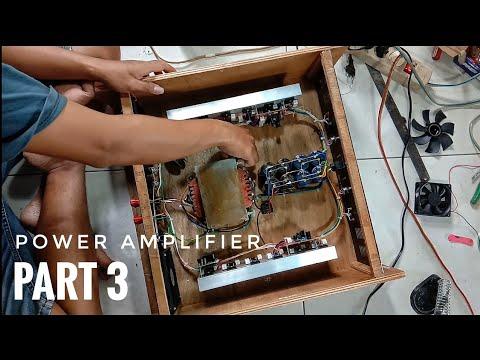 Pemasangan Tata Letak Power Amplifier Ke Box