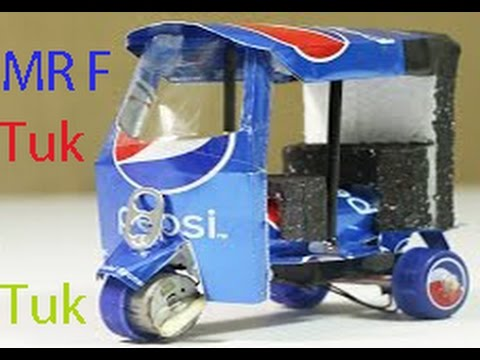 Download How To Make An Electric Tuk Tuk Rickshaw Using Of Pepsi Cans - Step by step Home DIY Easy Way