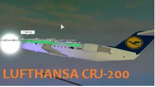 Roblox- lufthansa flight CRJ-200