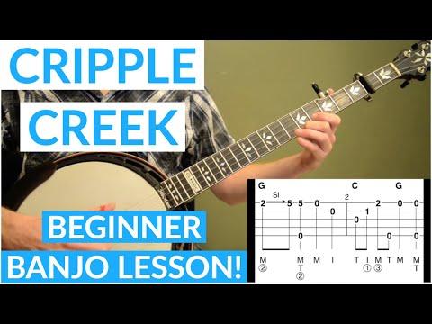 Cripple Creek Beginner Banjo Lesson