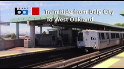 Bart Train Ride - A Car Rohr #1251 Red Line From Daly City to West Oakland