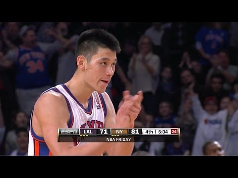 Jeremy Lin Full Highlights 2012.02.10 vs Lakers - 38 Pts, 7 Assists, Linsenity!!