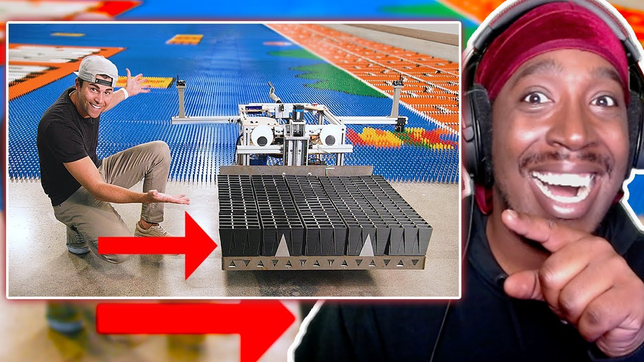Reaction To World Record Domino Robot (100k dominoes in 24hrs)