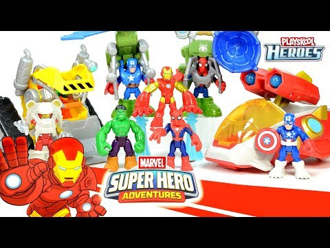 Captain America Spider-Man Hulk & Iron Man Starship Marvel Super