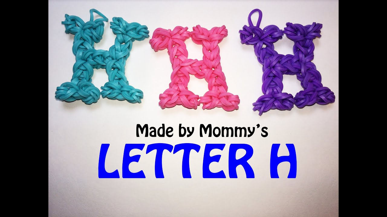 my rainbow letter hook rubber pin combine bikini vlog a alphabet disaster etsy basic using made shopping crochet bands loomless