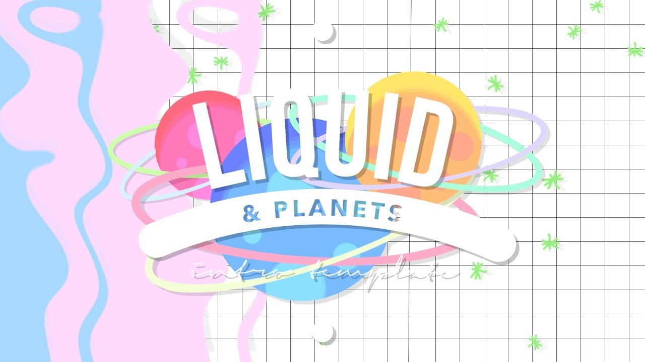liquid planets intro template no text youtube