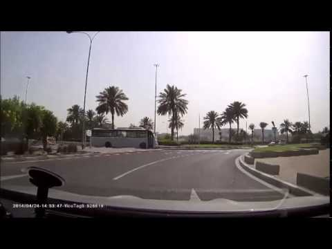 My journey home from work in Doha, Qatar