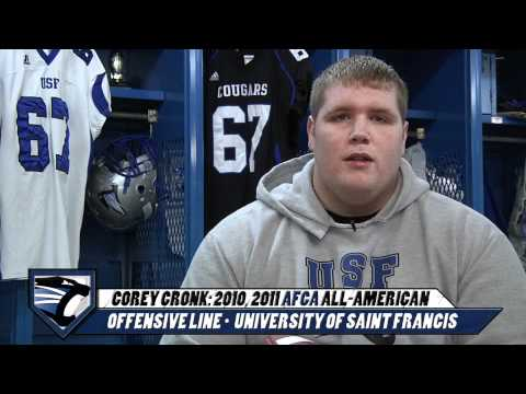 2011 - Football Corey Cronk AFCA ALL-AMERICAN