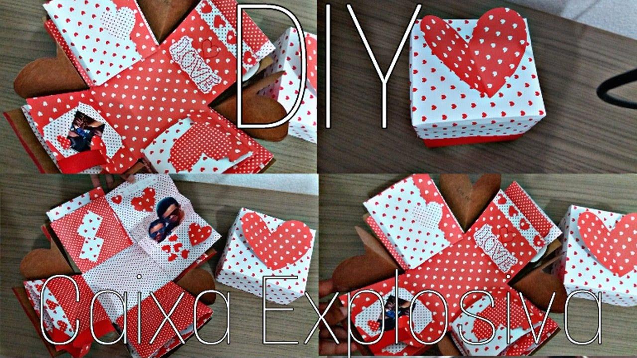 Presente Criativo Para O Dia Dos Namorados 1 Diy Caixa Explosiva