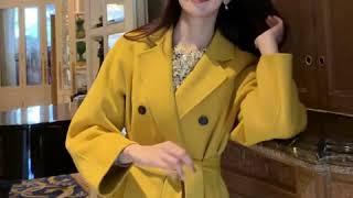 [나는마리]몽파르 울90% 더블 핸드메이드 코트 옐로