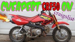Cheapest CRF50 on Craigslist!! - Will it Run?