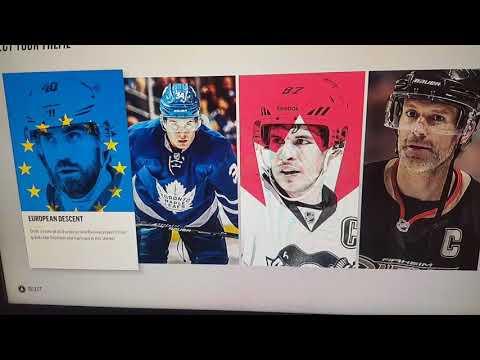 NHL 18 HUT build a Draft Champions Team.