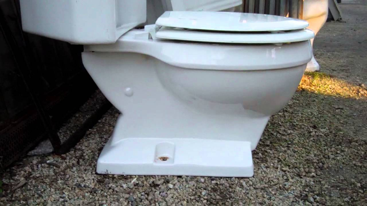 4362: Non Flushable 1963 Eljer Emblem Triangle Toilet   YouTube