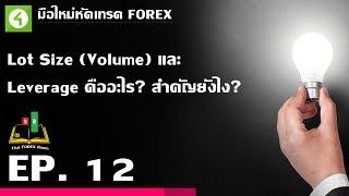 Forex ตอนที่ 12 : Lot Size (Volume) และ  Leverage คืออะไร? สำคัญยังไง!?