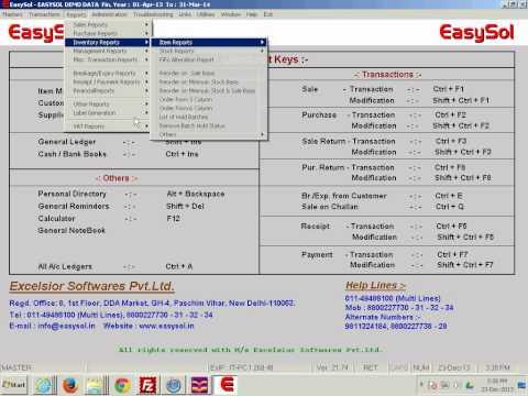 EasySol Pharma Software