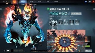 Dota Blue Shadow Fiend + other hero Mod pack(7.04) Arcana
