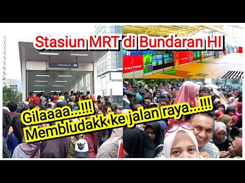 MRT Jakarta Membludak - Suasana Di HARI TERAKHIR Trial Run