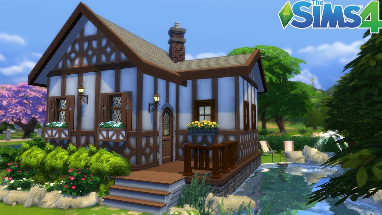 Les sims 4 la petite maison construction speed build fr hd youtube for Maison prefabriquee sims 4