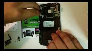 how to samsung galaxy note 2 lcd screen replacement take apart