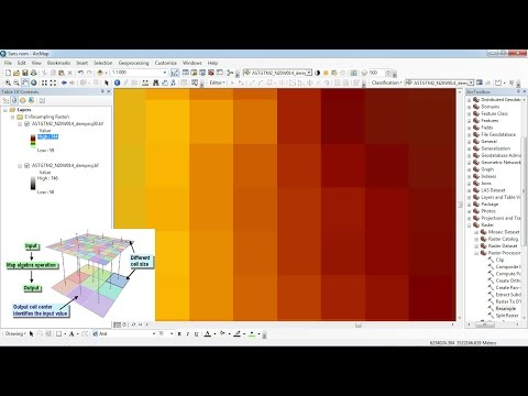 Resampling Raster ArcGis/ Changing The Cell Size Of Raster Dataset In ArcGis