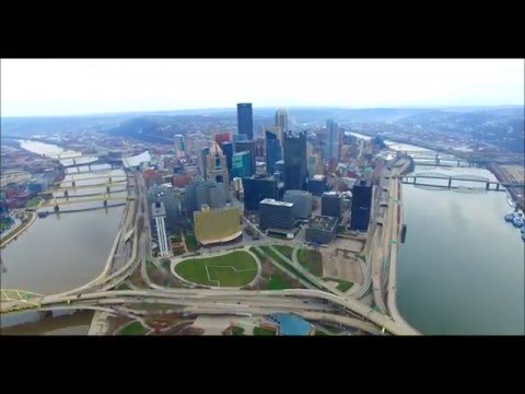 An Aerial Tour of Downtown Pittsburgh