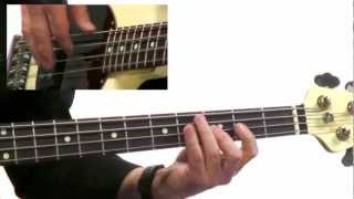 50 Bass Grooves - #2 Upbeat Funk - Bass Guitar Lesson - David Santos
