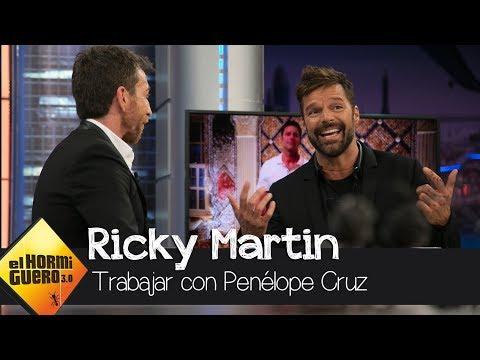 """Ricky Martin: """"He trabajado con Penélope Cruz, la mejor de todas"""" - El Hormiguero 3.0"""