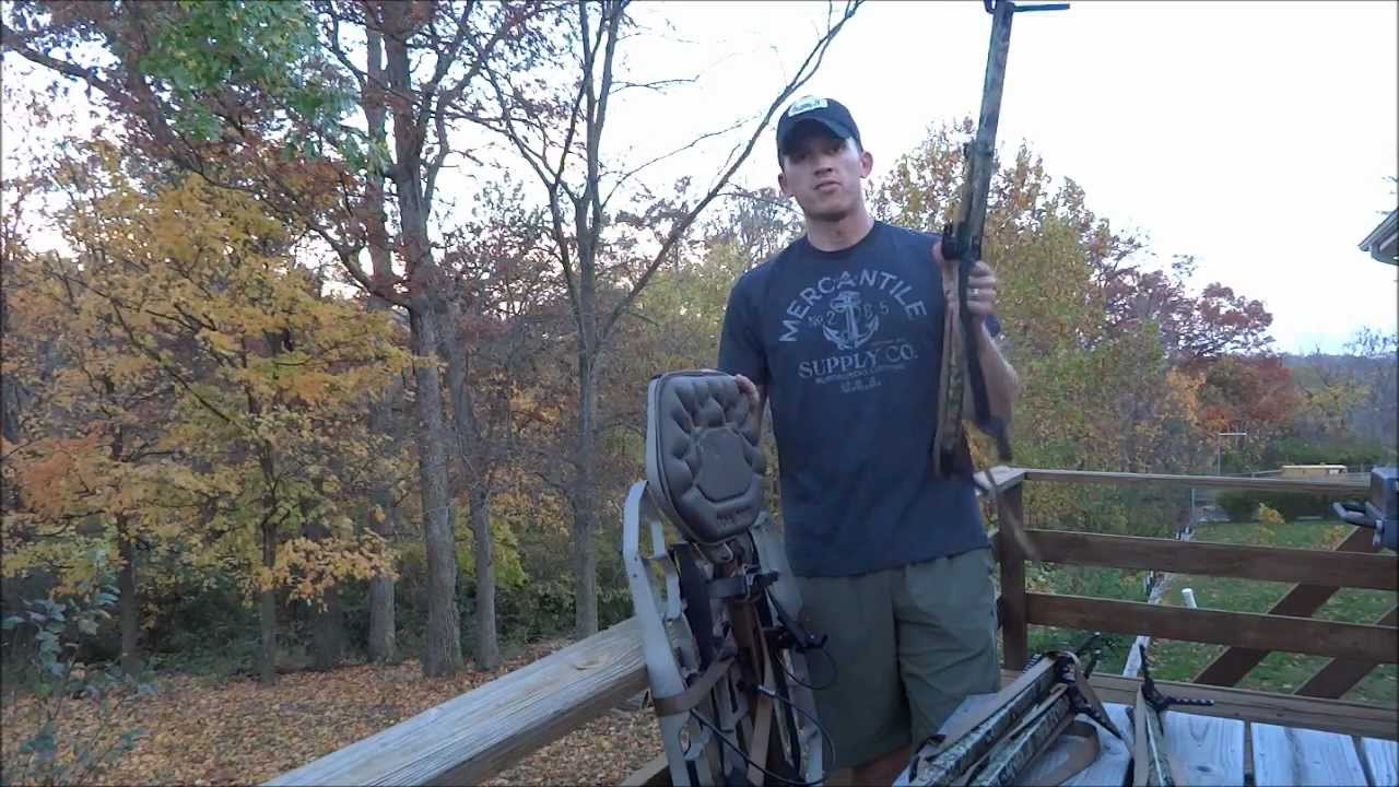 Lone Wolf Alpha Treestand  Climbing Sticks  How to Pack