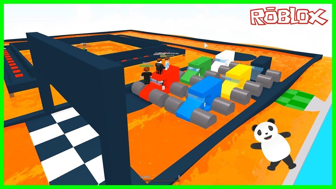 Yarış Yolundaki Lavlardan Kaç - Roblox The Floor Is LAVA!