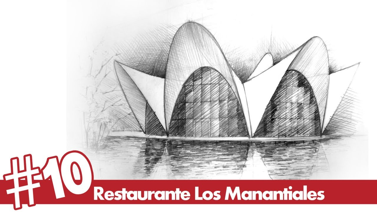 Restaurante Los Manantiales perspective drawing #10 | famous architecture -  YouTube