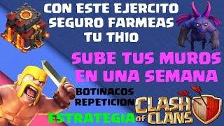 FARMEA TUS MUROS EN MENOS DE UNA SEMANA EN TH10 FACIL Y RAPIDO + REPES ESTRATEGIA CLASH OF CLANS