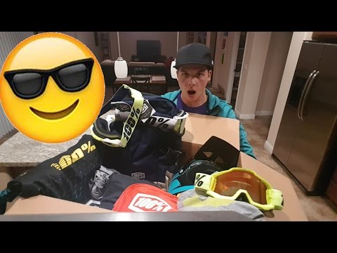 UNBOXING GIANT SPONSOR PACKAGE! (bmx race)