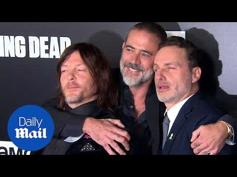 Andrew Lincoln, Norman Reedus And Jeffrey Dean Morgan At Walking Dead Season 9 Premiere
