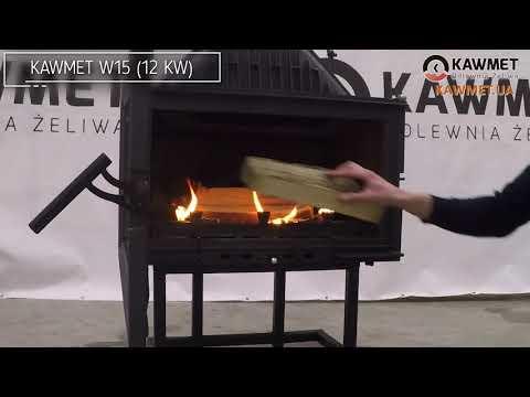 Каминная топка KAWMET W15 (9.4 kW) EKO. Відео 2