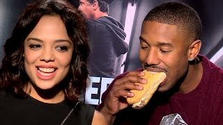 Truth Or Dare with CREED Cast: Michael B Jordan, Tessa Thompson (Hotline Bling, Chubby Bunny)