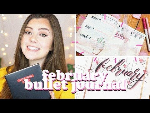 FEBRUARY 2018 BULLET JOURNAL SET UP AND LAYOUT | LUCY WOOD