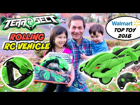 TERRASECT REMOTE CONTROL TRANSFORMING VEHICLE REVIEW TERRA-SECT ROLLS FLIPS ATTACKS TOP HOLIDAY TOYS