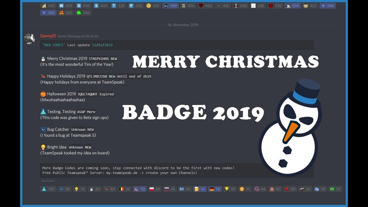 Teamspeak 15 Badges Codes 15   15/15
