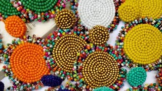 DIY Earrings // How to make embroidery sequences earring // seed beads // sequence // earrings
