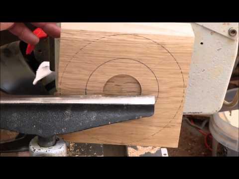 Woodturning With Naked Turner New Square Oak Bowl Part 1