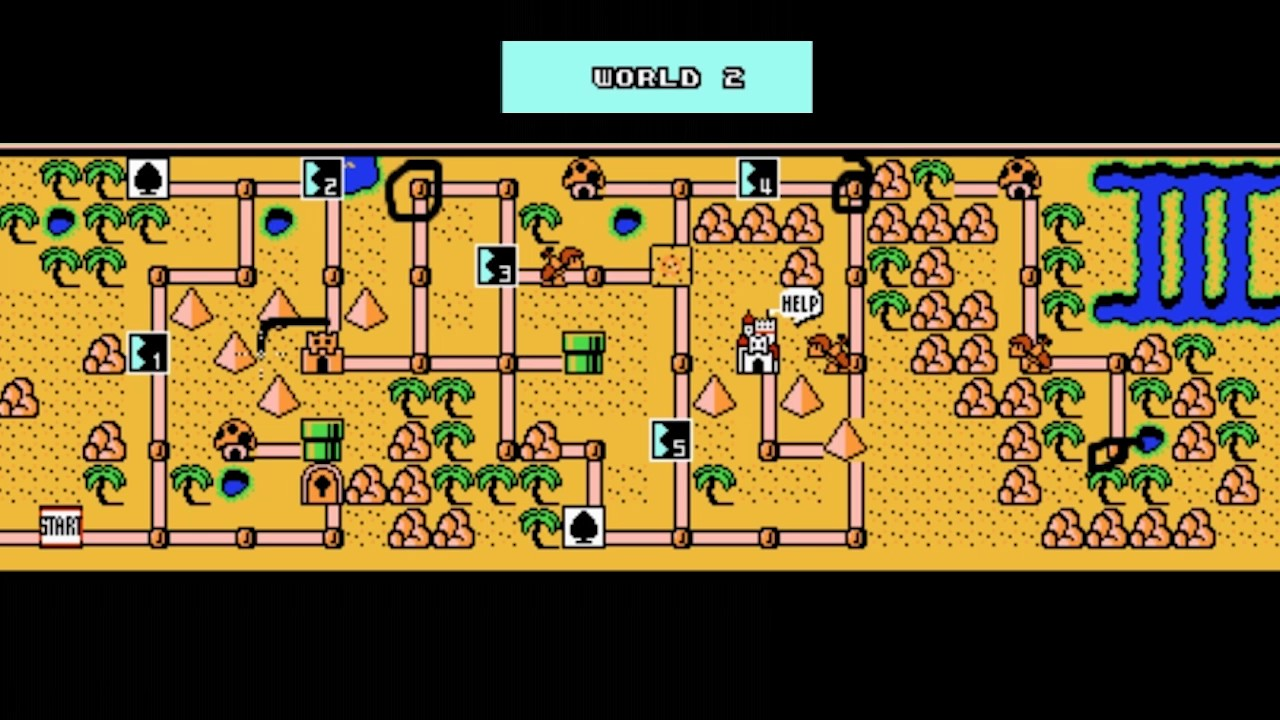 Mario 3 World Map.Super Mario Bros 3 Early Hammer Tutorial Youtube