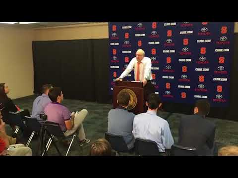 Jim Boeheim postgame news conference after Syracuse basketball vs Colgate (2017)