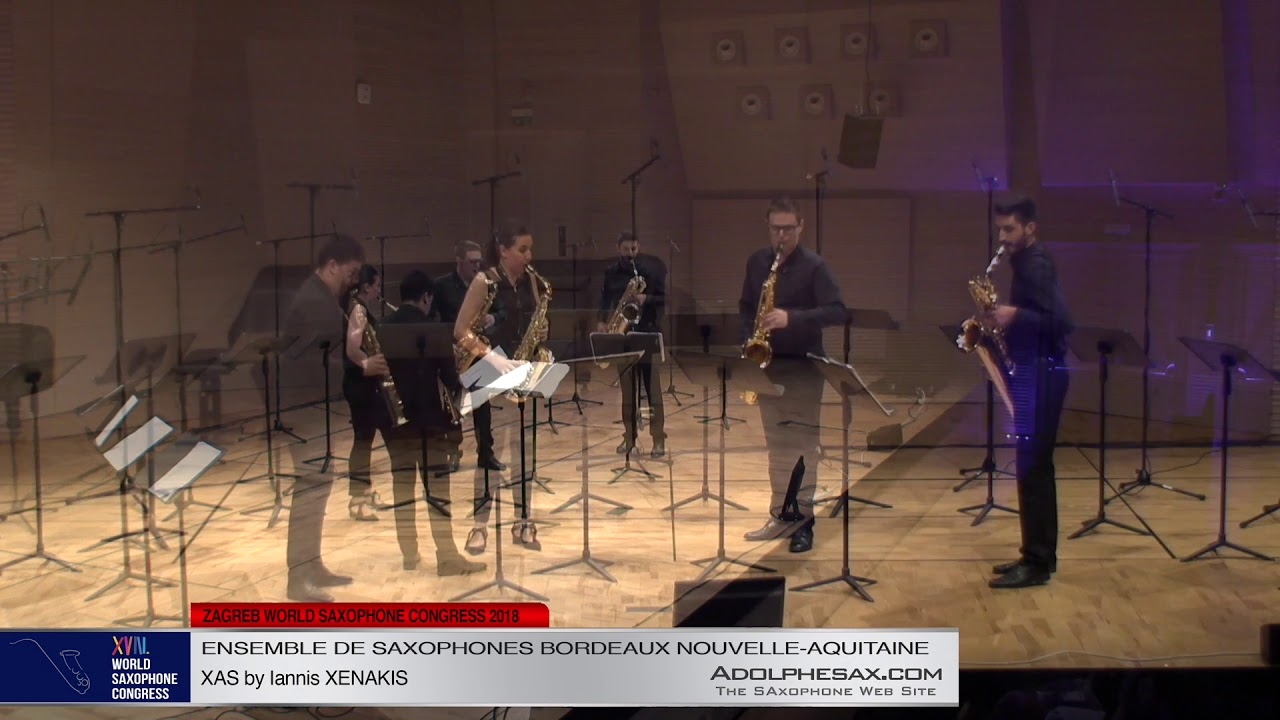 XAS by Iannis Xenakis   Ensemble de Saxophones Bordeaux Nouvelle Aquitaine   XVIII World Sax Congres