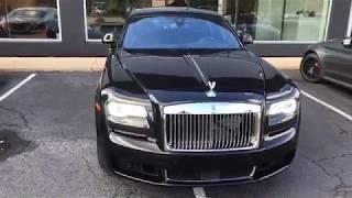 2018 Rolls Royce Ghost RJX54366 Ext  Black Diamond   Int  Black