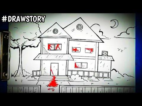 Asal Usul Rumah Terkutuk Hantu ( KAYAKO ) || DRAWSTORY
