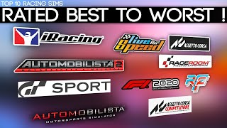 Top 10 Racing SimuĮators Rated From Best To Worst !